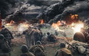 Picture war, USSR, soldiers, Germany, ussr, Pavel Bondarenko