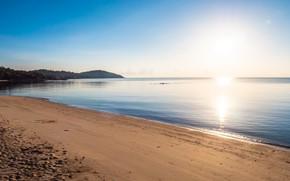 Picture sand, sea, beach, summer, the sky, sunset, shore, summer, beach, sea, sunset, seascape, beautiful, sand