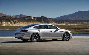 Picture Volkswagen, Parking, liftback, Arteon, 2019, gray-silver, Arteon SE