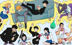 Picture anime, art, characters, Mob Psycho 100, Mob psycho 100