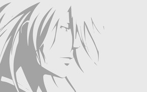 Picture minimalism, silhouette, guy, Psycho Pass