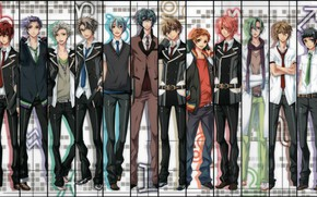 Picture collage, guys, characters, Starry Sky, Starry★Sky, visual novel, anime (2011)