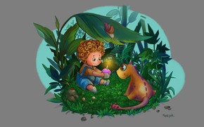 Picture snail, baby, fantasy, art, dragon, illustration, congratulations, children's, Birthday, toric, Tatiana Butterfish