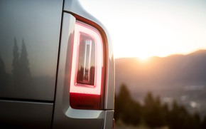 Picture sunset, headlight, Rolls-Royce, 2018, Cullinan