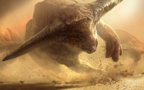 Picture attack, monsters, horns, a powerful blow, bulls, by Scott Gessler