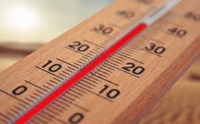 Picture summer, heat, thermometer