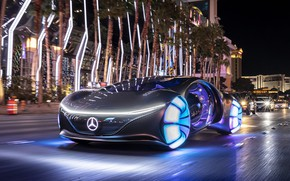 Picture the city, street, speed, Vision, Mercedes Benz, street, speed, 2020, AVTR, Mercedes Benz Vision AVTR, …