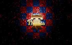 Picture wallpaper, sport, logo, baseball, glitter, checkered, MLB, Philadelphia Phillies
