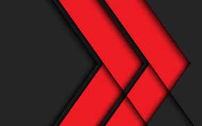 Picture line, red, arrow, design, material