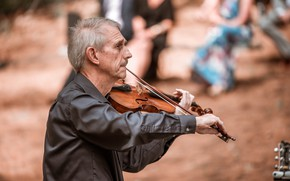 Picture music, violin, people