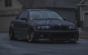 Picture BMW, Black, Water, Rain, E46, Drops, Puddle
