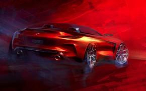 Picture figure, BMW, sketch, Roadster, side view, BMW Z4, Z4, 2019