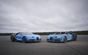 Picture Blue, Lego, Gipercar, Bugatti Chiron