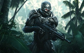 Picture Soldiers, Weapons, Jungle, Electronic Arts, Remastered, Nanosuit, Crysis: Remastered