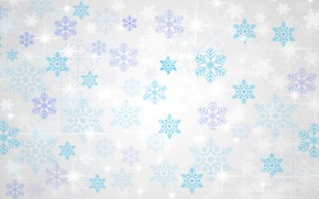 Picture winter, stars, light, snowflakes, lights, pattern, texture, Christmas, white background, New year