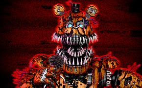 Picture background, the game, doll, art, mouth, fangs, Five Nights at Freddy's, Five nights at Freddy's