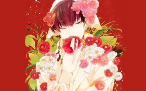 Picture red background, Hoozuki no Reitetsu, Cold-Blooded Hozuki, Hakutaku