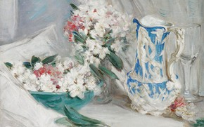 Picture picture, William Somerville Shanks, William Somerville Shanks, Still life with blue pitcher