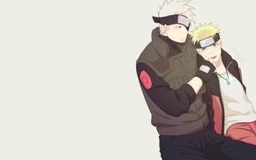 Picture Naruto, Hatake Kakashi, NARUTO, Uzumaki Naruto, Fanart
