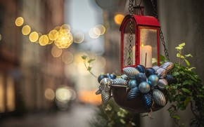 Picture the city, candle, Christmas, lantern, New year, Stockholm, Sweden, bokeh, Christmas decorations, decoration