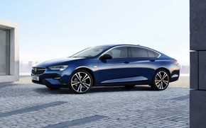 Picture blue, Insignia, Opel, sedan, side view, Vauxhall, 2020, Insignia Grand Sport