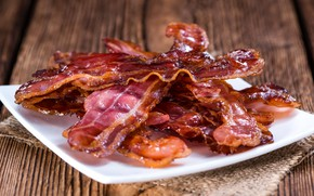 Picture meat, bacon, greaves