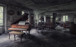 Picture music, piano, naturalism