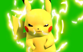Picture mouse, category, Pikachu, electric, pokemon, pokemon, Pikachu