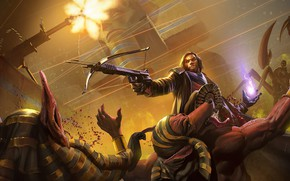 Picture warrior, monsters, male, Scorpio, crossbow, Project Warlock