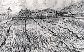 Picture Vincent van Gogh, Saint-Paul Hospital, Enclosed Field behind