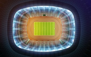 Wallpaper football, minimalism, the view from the top, stadium, stadium, football, football field, aerial view, soccer ...