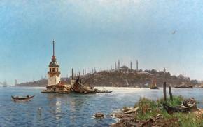 Picture Carl Saltzmann, Carl Salzman, A view of Constantinople, Views of Constantinople, German painter, German painter