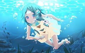 Picture girl, Princess, Shop Tamako, in the sea, Tamako Market