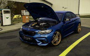 Picture blue, BMW, G-Power, under the hood, F87, M2, 2019, M2 Competition, G2M Bi-Turbo