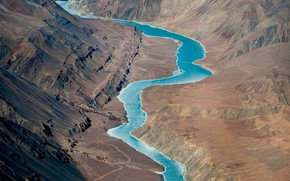 Picture India, Jammu and Kashmir, Ladakh, the Indus river