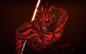 Picture Figure, Star Wars, Dark, Sword, Darth Maul, Dark Side, Art, Darth Maul, Jason Z, by …