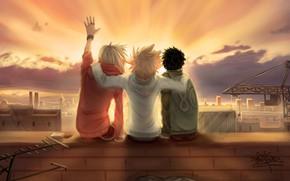 Picture sunset, guys, friends, Katekyo Hitman reborn, Teacher mafia Reborn