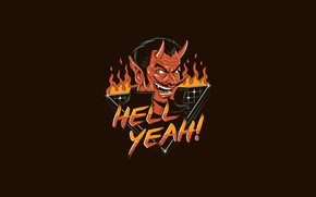 Picture Minimalism, Hell, Art, Devil, The devil, by Vincenttrinidad, Vincenttrinidad, Devils Reaction when you are being …