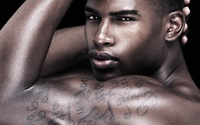 Picture look, tattoo, male, biceps, Broderick Hunter