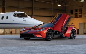 Picture Ford, the door, supercar, Ford GT, business jet, 2017, H063, Beryllium Orange