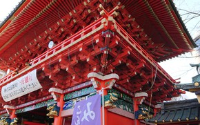Picture temple, Tokyo, Japan, bottom view