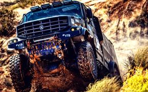 Picture Sand, Auto, Sport, Machine, Truck, Race, Master, Russia, Kamaz, Rally, KAMAZ-master, Rally, KAMAZ, The roads, …
