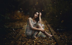 Picture autumn, girl, Maria Nita Vlad