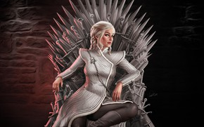 Picture Girl, Fantasy, The throne, Game of Thrones, Game of thrones, Daenerys Targaryen, Daenerys Targaryen, Character, …