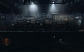 Picture train, hangar, Metro Exodus