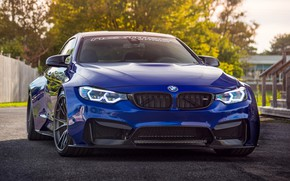 Picture Blue, BMW M4, Sport Car