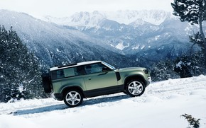 Picture Land Rover, snow, 4x4, new, Defender, suv, 2020, montains, Land rover defender
