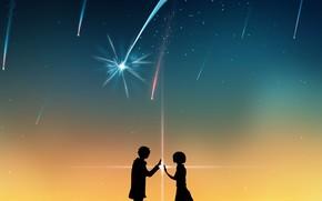 Picture romance, silhouettes, Kamet, Your name, Kimi No VA On