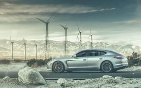 Picture road, mountains, transport, Porsche, car