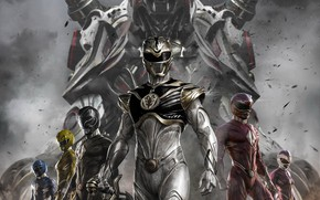 Picture white tiger, Power Rangers, red ranger, yellow ranger, zord, white ranger, blue ranger, black ranger, …